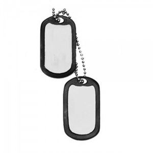 Жетон Dog Tag MIL-TEC v2 Black