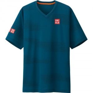 Футболка Uniqlo Men Nishikori Dry Ex BLUE
