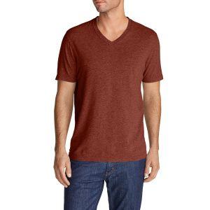 Футболка Eddie Bauer Men Lookout V-Neck RUSSET