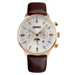 Часы Skmei 9117 Gold Case White Dail BOX