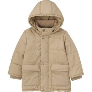 Куртка Uniqlo toddler body warm lite coat BIEGE