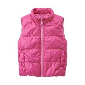 Жилетка Uniqlo toddler body warm lite full zip west Pink