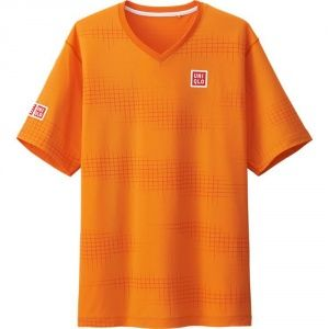 Футболка Uniqlo Men Nishikori Dry Ex ORANGE