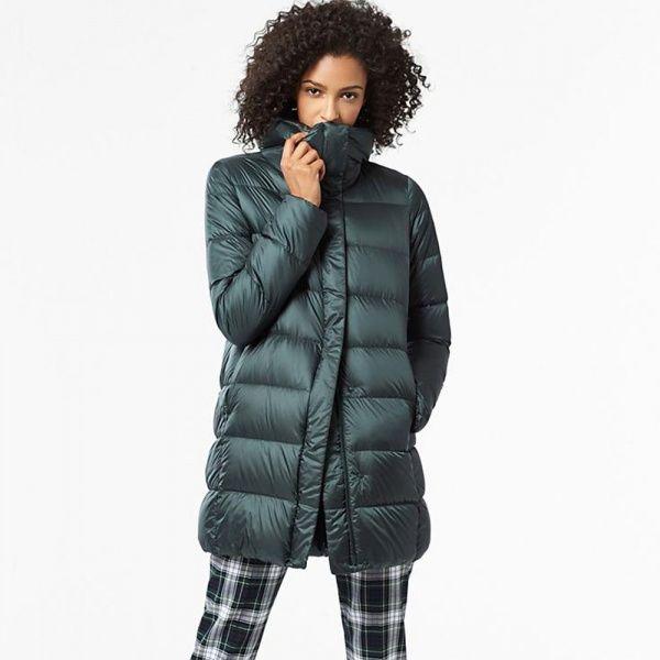 139485ba3264d07 Куртка Uniqlo women ultra light down volume collar coat D.Green ...