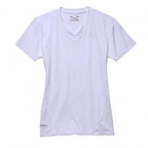 Футболка Under Armour HeatGear Compression V-Neck White