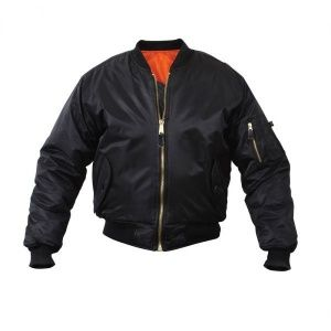 Куртка Rothco MA-1 Flight Jacket Marine Bulldog Black
