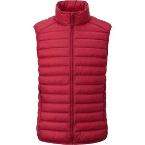 Жилетка Uniqlo men ultra light down vest Red