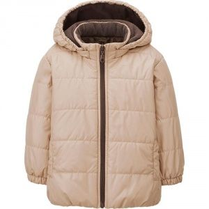 Куртка Uniqlo toddler warm lite jacket BIEGE