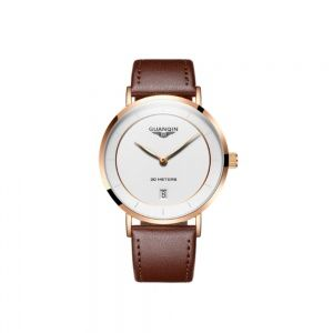 Часы Guanqin RoseGold-White-DarkBrown GS19070 CL