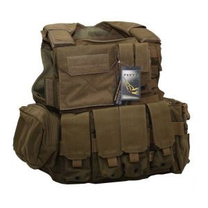Бронежилет Flyye Force Recon Vest with Pouch Set Ver.Land Coyote Brown