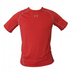 Футболка Under Armour HeatGear Armour Short Sleeve Compression Shirt Red