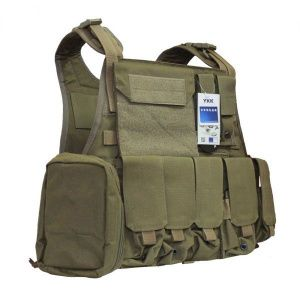 Бронежилет Flyye Molle Style PC Plate Carrier with Pouch Set Khaki