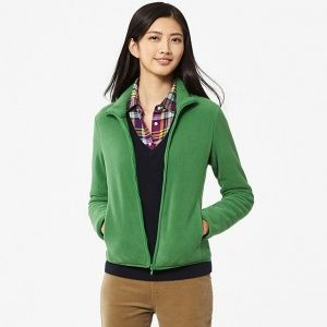 Кофта Uniqlo Women Fleece Full-Zip Green