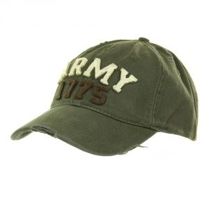Кепка Baseball Cap Stone Washed Army 1775 Green