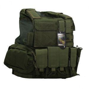 Бронежилет Flyye Force Recon Vest with Pouch Set Ver.Land Olive